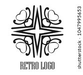 vintage ornamental logo... | Shutterstock .eps vector #1047995653
