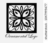 vintage ornamental logo... | Shutterstock .eps vector #1047995677