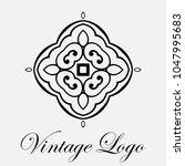 vintage ornamental logo... | Shutterstock .eps vector #1047995683