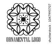 vintage ornamental logo... | Shutterstock .eps vector #1047995707