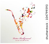 colorful music background.... | Shutterstock .eps vector #104799593