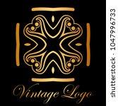 vintage ornamental logo... | Shutterstock .eps vector #1047996733