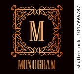 vintage ornamental logo... | Shutterstock .eps vector #1047996787