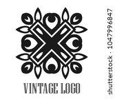 vintage ornamental logo... | Shutterstock .eps vector #1047996847
