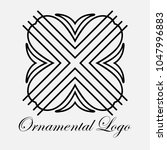 vintage ornamental logo... | Shutterstock .eps vector #1047996883