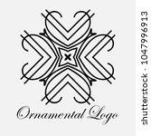 vintage ornamental logo... | Shutterstock .eps vector #1047996913