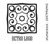 vintage ornamental logo... | Shutterstock .eps vector #1047996943