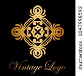 vintage ornamental logo... | Shutterstock .eps vector #1047998593