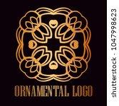 vintage ornamental logo... | Shutterstock .eps vector #1047998623