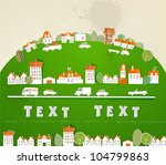 city background made of paper | Shutterstock .eps vector #104799863