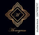 vintage ornamental logo... | Shutterstock .eps vector #1047998797