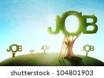 conceptual job market... | Shutterstock . vector #104801903