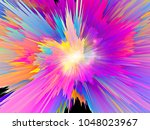 explosion of saturated virtual... | Shutterstock . vector #1048023967