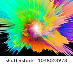 explosion of saturated virtual... | Shutterstock . vector #1048023973