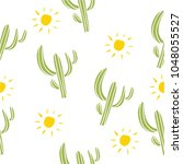 mexican cactus seamless pattern ... | Shutterstock .eps vector #1048055527