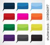 speech bubbles in different... | Shutterstock .eps vector #104806097