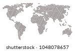 global atlas pattern composed...   Shutterstock . vector #1048078657