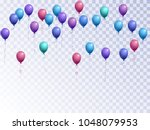 balloons group isolated vector... | Shutterstock .eps vector #1048079953