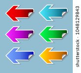 the color arrow set on the left ... | Shutterstock .eps vector #1048129843