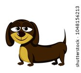little dog   lovely little... | Shutterstock .eps vector #1048156213