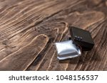 Small photo of Swollen lithium ion polymer batteries - toxic dangerous waste