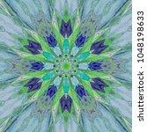 Kaleidoscope Pattern In Retro...