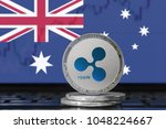 ripple  xrp  cryptocurrency ... | Shutterstock . vector #1048224667