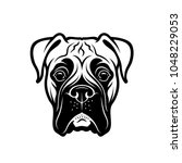 boxer dog   isolated outlined...   Shutterstock .eps vector #1048229053