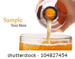 pouring beer mug isolated on white background - stock photo