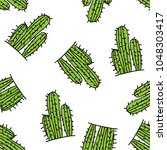 mexican cactus seamless pattern ... | Shutterstock .eps vector #1048303417