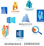 collection of real estate icons ...