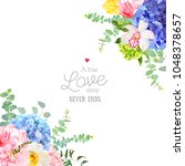 wedding floral angle vector... | Shutterstock .eps vector #1048378657