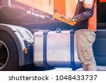 daily safety inspection  driver ... | Shutterstock . vector #1048433737