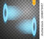 magic fantasy portal.... | Shutterstock .eps vector #1048473457