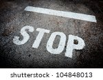 Stop Sign Painted On The Wall