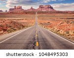 route 163  arizona  approaching ... | Shutterstock . vector #1048495303