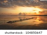 beautiful sunset over a lake | Shutterstock . vector #104850647