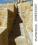 Small photo of Narrow stairway on the outer wall of the large Crusader fortress in Karak, Jordan, middle east