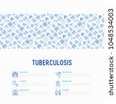 tuberculosis concept with thin... | Shutterstock .eps vector #1048534003