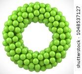 green balls round vector frame. ...   Shutterstock .eps vector #1048537127