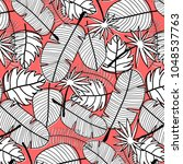 tropical pattern background.... | Shutterstock .eps vector #1048537763