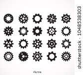 set gear icon vector flat design   Shutterstock .eps vector #1048538303