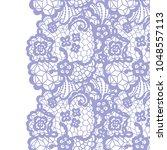 seamless lace border. vector... | Shutterstock .eps vector #1048557113