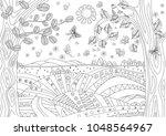 fantasy landscape with... | Shutterstock .eps vector #1048564967