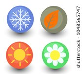 four season vector icon set ... | Shutterstock .eps vector #1048565747