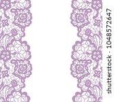 seamless lace border. vector... | Shutterstock .eps vector #1048572647