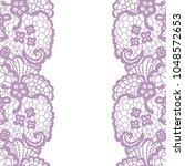 seamless lace border. vector... | Shutterstock .eps vector #1048572653