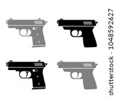 gun vector icons on white... | Shutterstock .eps vector #1048592627