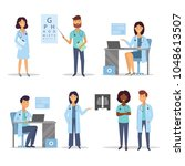 doctors and nurses. medical... | Shutterstock .eps vector #1048613507