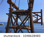 Small photo of upending and set down process of offshore platform jacket installation